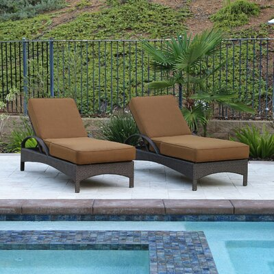 Afiya Double Sun Lounger Set Group with Cushion