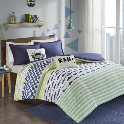 Aaliyah Cotton Duvet Cover Set Size: Twin/Twin XL
