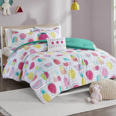Mosley Printed Comforter Set Size: Twin/Twin XL