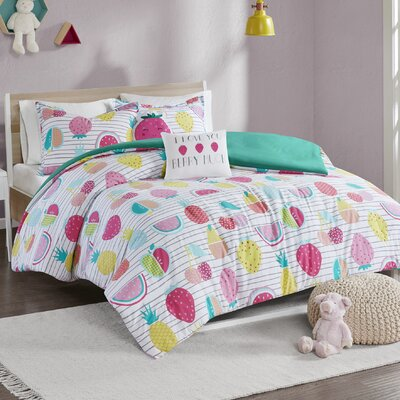 Mosley Cotton Duvet Cover Set Size: Full/Queen