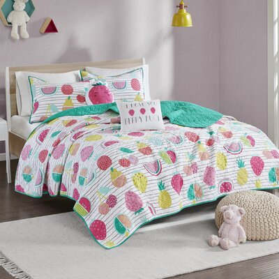 Mosley Cotton Coverlet Set Size: Full/Queen