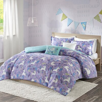 Allan Cotton Duvet Cover Set Size: Full/Queen