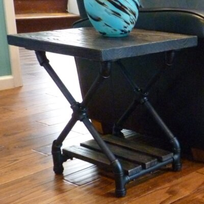 Houston End Table Finish: Black/Dark Brown