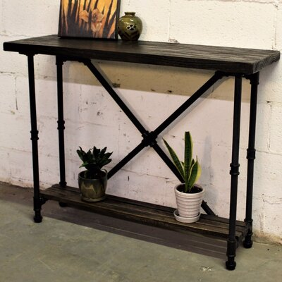 Houston Console Table Finish: Black/Dark Brown