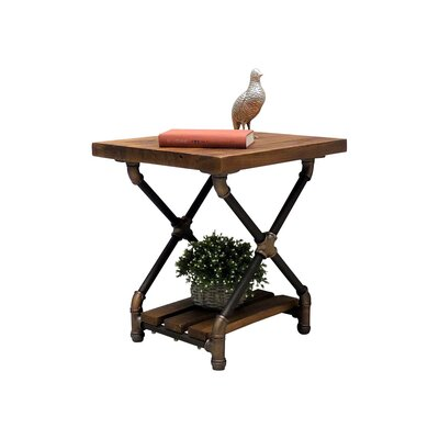 Houston End Table Color: Rustic Bronze