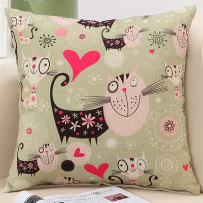 Cat Family Decorative Nursery Pillow