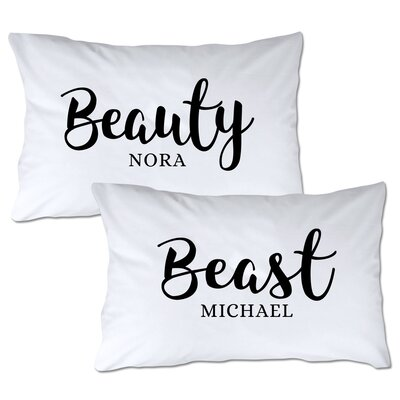 Personalized Beauty & Beast Pillowcase