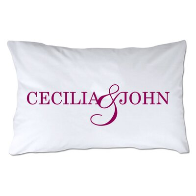 Personalized Couples Names Pillowcase Color: Berry