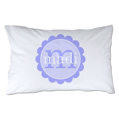 Personalized Scallop Circle Pillowcase Color: Purple