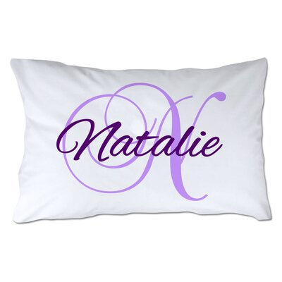 Personalized Script Name & Initial Pillowcase Color: Purple