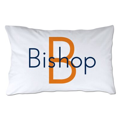 Personalized Name & Initial Pillowcase Color: Orange