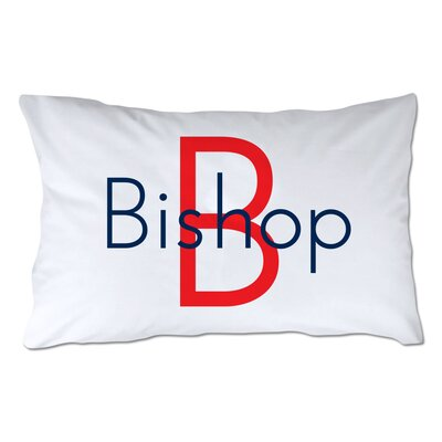 Personalized Name & Initial Pillowcase Color: Red