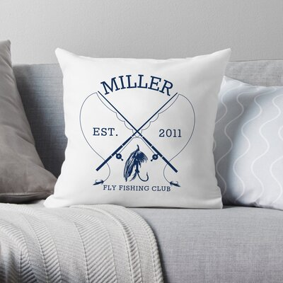 Personalized Fly Fishing Club Throw Pillow WF-2-113