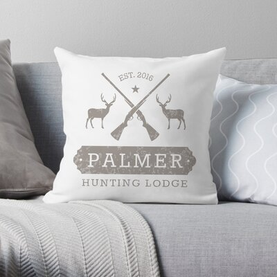 Personalized Hunting Lodge Throw Pillow