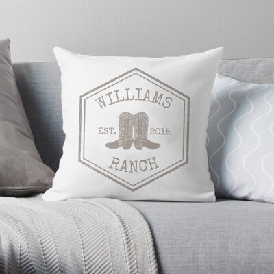 Personalized Ranch Throw Pillow