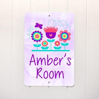 Doten Purple Flowers Metal Personalized Decorative Plaque ZMIE5190 42220504