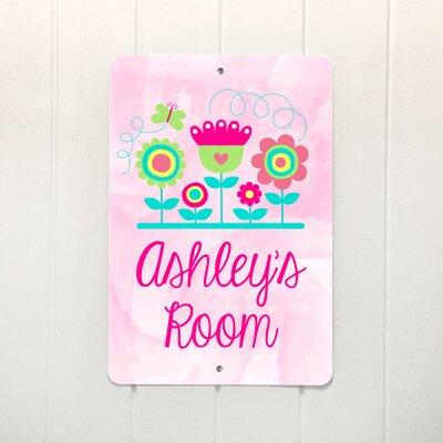 Double Pink Flowers Metal Personalized Decorative Plaque ZMIE5191 42220505