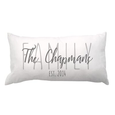 Family Overlay and Date Lumbar Pillow