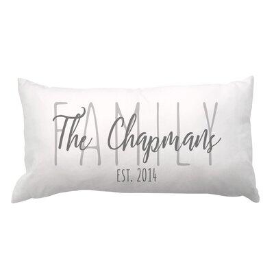 Family Overlay and Date Lumbar Pillow