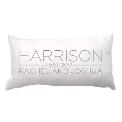 Family and Couples Names with Date Lumbar Pillow