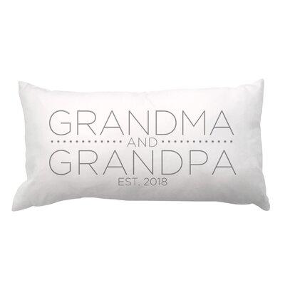 Grandma and Grandpa with Date Lumbar Pillow