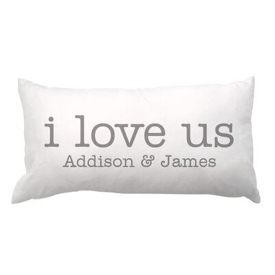 I Love Us with Couple Names Lumbar Pillow