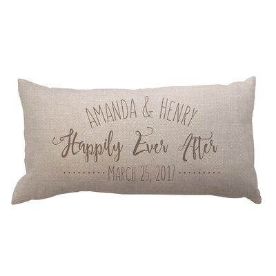 Happily Ever After Textured Linen Lumbar Pillow