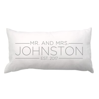 Mrs. and Mrs. with Date Lumbar Pillow
