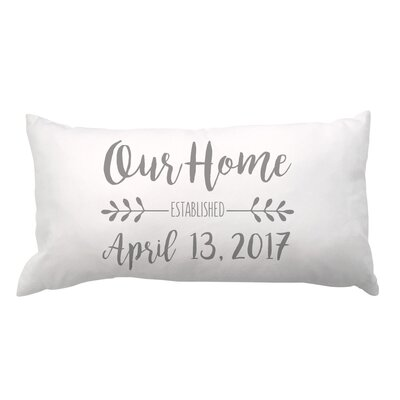 Our Home and Date Lumbar Pillow