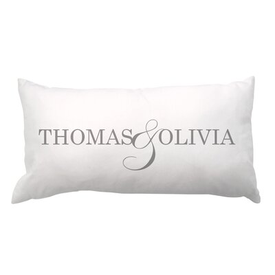Couple Names Lumbar Pillow