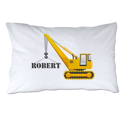 Personalized Construction Crane Pillow Case