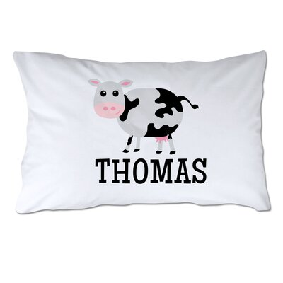 Personalized Cow Pillow Case