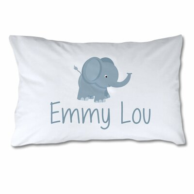 Personalized Elephant Pillow Case