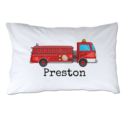 Personalized Fire Truck Pillow Case