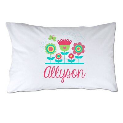 Personalized Flowers and Name Pillow Case