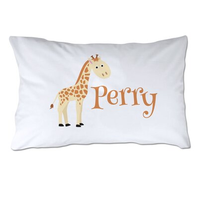 Personalized Giraffe Pillow Case