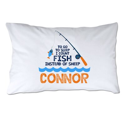 Personalized I Count Fish Instead of Sheep Pillow Case