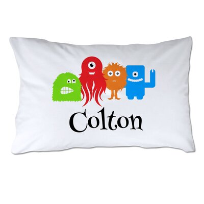 Personalized Little Monsters Pillow Case