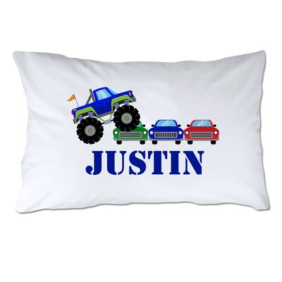 Personalized Monster Truck Rally Pillow Case