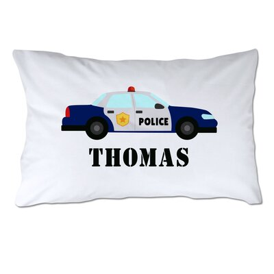Personalized Police Car Pillow Case