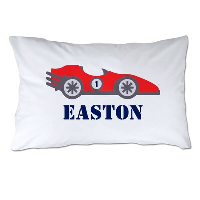 Personalized Race Car Pillow Case