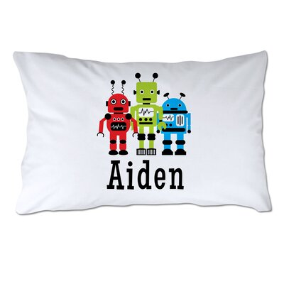 Personalized Robots Pillow Case