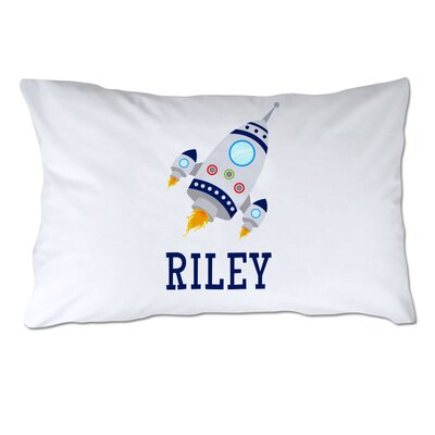 Personalized Rocket Ship Pillow Case