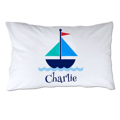Personalized Sailboat Pillow Case