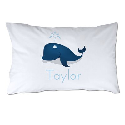 Personalized Whale Pillow Case