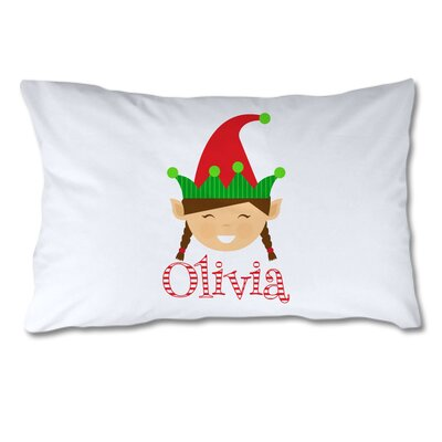 Personalized Elf Pillow Case (Girl)