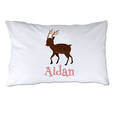 Personalized Rudolph the Red Nosed Reindeer Pillow Case