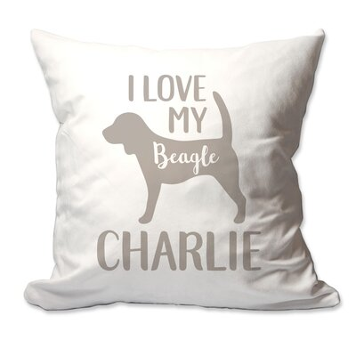 Personalized I Love My Beagle Throw Pillow