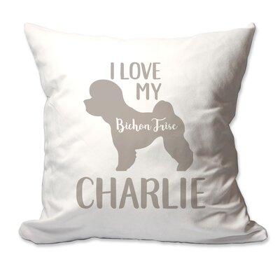 Personalized I Love My Bichon Frise Throw Pillow