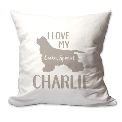 Personalized I Love My Cocker Spaniel Throw Pillow